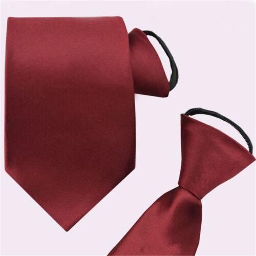 Fashion Men/'s Business Striped Tie Formal Wedding Bridegroom Zipper Zip Necktie