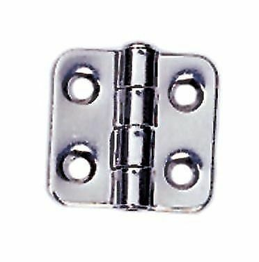 BOAT MARINE STAINLESS STEEL 304 4 HOLES HINGE 1.5 BY 1.4 INCHES SQUARE