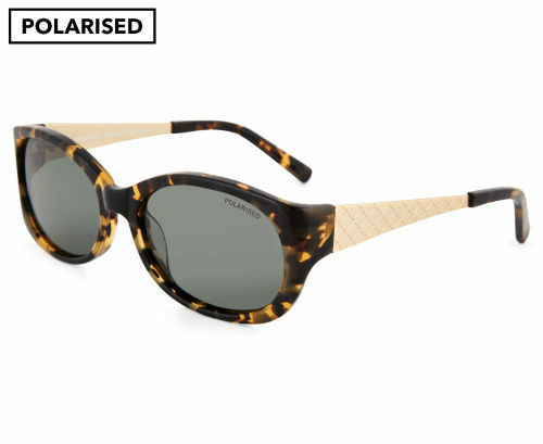 Cancer Council Womens Georgina Polarised Sunglasses-Mottled Tortoise/Gold/Khaki