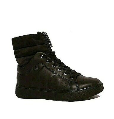 Details about GEOX AMPHIBIOX D MAYRAH ABX RRP £130 BLACK LEATHER WATERPROOF ANKLE BOOTS LADIES