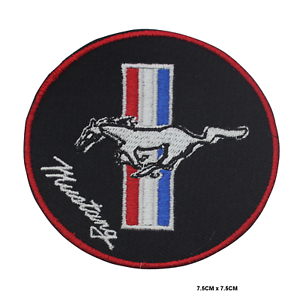 Mustang Car Brand Logo Embroidered Iron On Sew On Patch Badge For Clothes etc