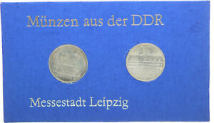 2x 5 Mk 1984 Rda Thematischer Juego Ciudad Ferial Leipzig (46027)