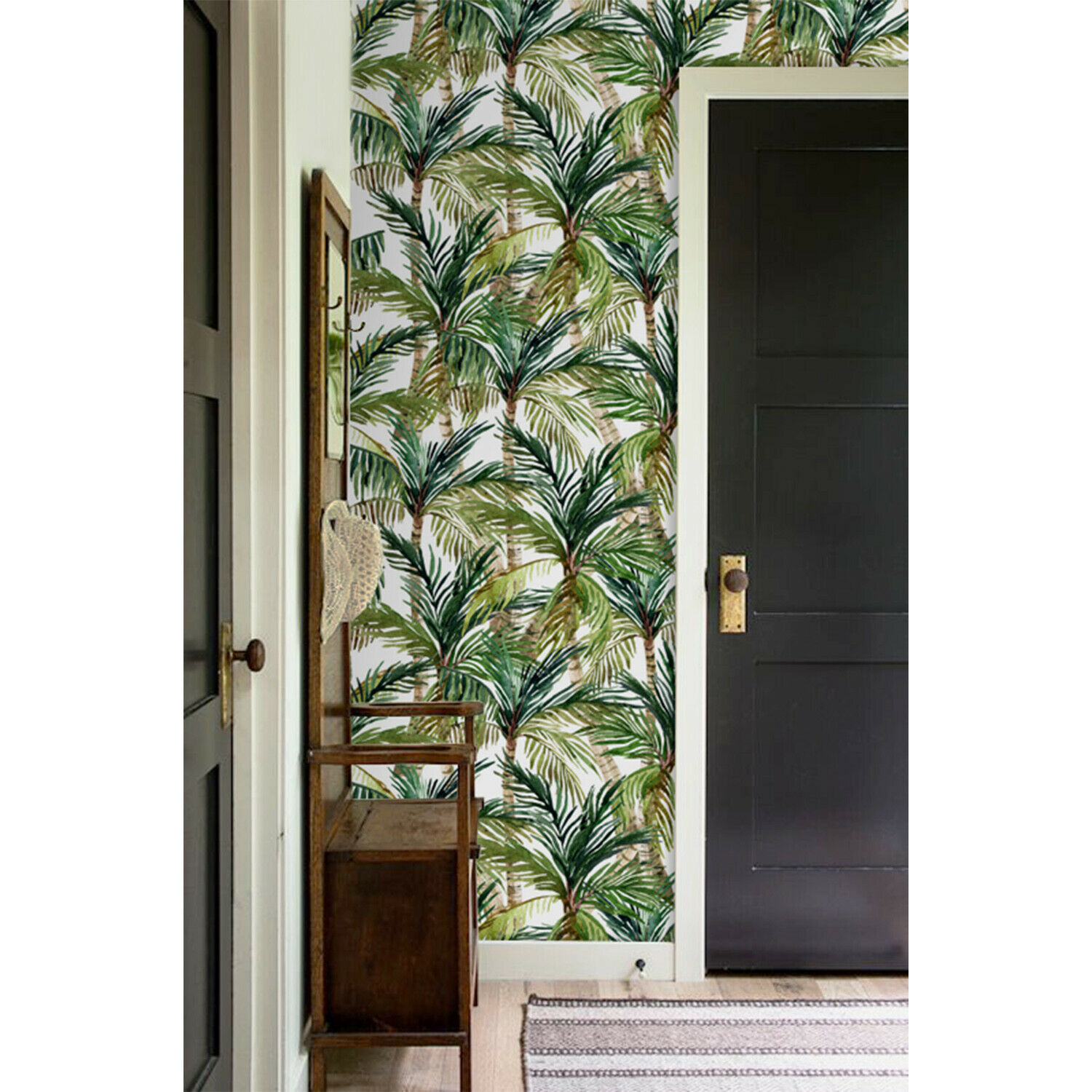 Palm Tree removable wallpaper Tropical Jungle wall Wall Mural Trees decor Floral