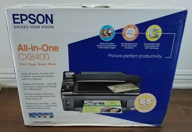EPSON CX8400 All In One Inkjet Printer Print Copy Scan Photo New Old Stock