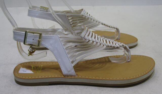 verano BLANCO CON TIRA TRASERA Zapatos Mujer Sexy Sandalias size 8.5