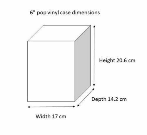 "Pack of 2 Protectors Cases for 6/"" Funko Pop Vinyls"