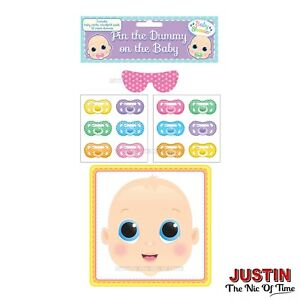 PIN THE DUMMY ON THE BABY Shower Party Game Boy Girl Unisex Ethnic MULTI PLAYER