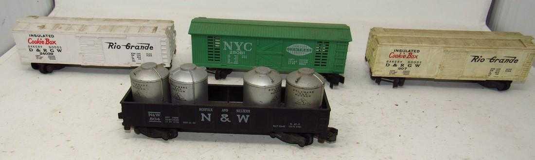 cómodamente AMERICAN AMERICAN AMERICAN FLYER  S  Gauge Vintage Train NYC Cookie Box Coches N&W Gondola  buena reputación