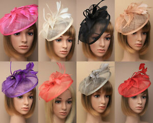 Image is loading Large-Headband-Aliceband-Hat-Fascinator-Weddings -Ladies-Day- 0d0202250a7