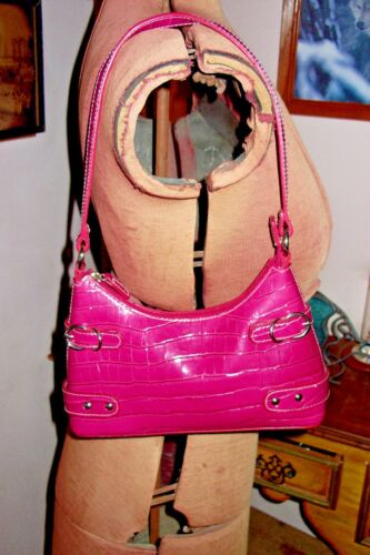 Nice Shoulder Small Purse Pink Unbranded Bright Gator Zip Faux Pattern Bag SUVzMp