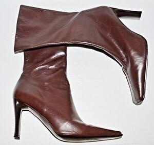 gemaakt middenkuitlaarzen Spanje met Guess lederen Sz bruin 9 M laars in fxFB8qP