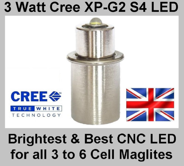 Maglite LED Upgrade TTS Conversion Cree XP-G2 Bulb for 3 4 5 6 D & C Cell Torch