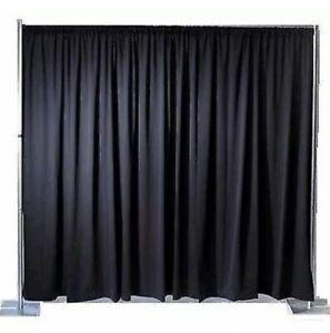 BUDGET-Black-Pleated-Stage-Drape-Theatre-or-Club-3m-X-2m
