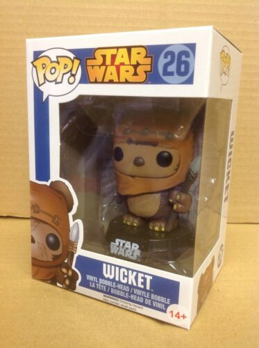 Funko Pop STAR WARS WICKET #26 Bobble-Head Vinile Figura Nuovo *