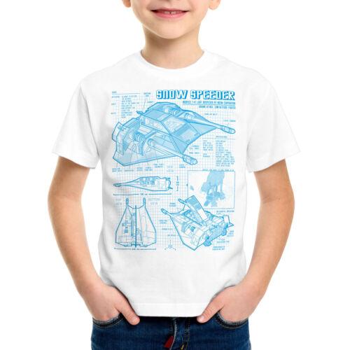 Snow Speeder t-47 Bambini T-shirt guerra la star Hoth Air Wars Impero stelle