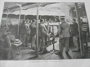 Gravure 1896 Au Familistère De Guise Une Répétition Musicale