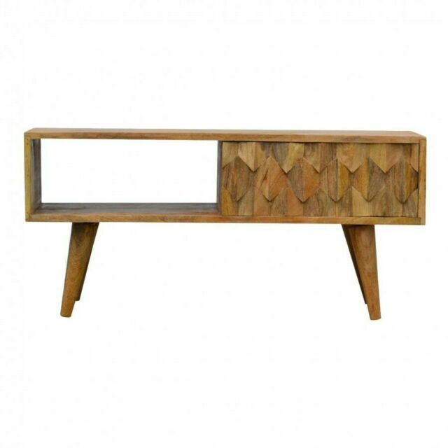 Af0037 Solid Wood Media Unit Cabinet Tv Stand Rustic Farmhouse Handcrafted