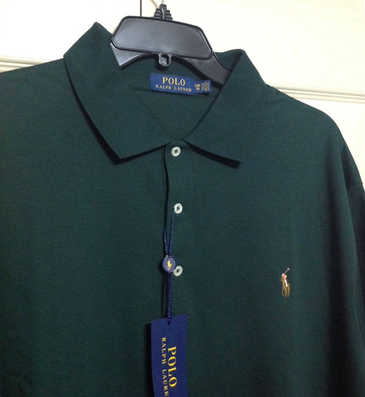 NWT POLO RALPH LAUREN CLASSIC FIT SHIRT SHORT SLEEVE SHIRT FIT  SOFT COTTON 3XB verde  98 8bbeee