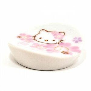 Hello Kitty Sakura Cherry Blossoms Small Dish Plate Kimono MADE IN JAPAN