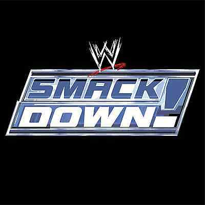 "WWE Wrestling Smack Down Car Bumper Sticker 4"" x 4"""