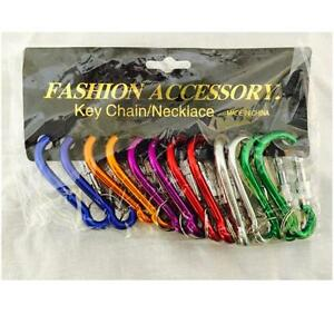 '12-Carabiners-Aluminum-Alloy-D-Screw-Lock-Carabiner-Clip-Hook-Key-Chain-2-3-4-034' from the web at 'https://i.ebayimg.com/images/g/Ds0AAOSwB09YGL4A/s-l300.jpg'