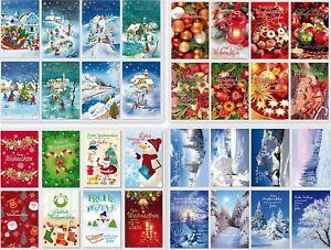 schoene-Weihnachtskarten-Glueckwunschkarten-mit-Umschlag-Blitzversand