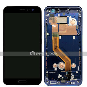 5-5-039-039-Black-HTC-U11-LCD-Display-Touch-Screen-Digitizer-Assembly-with-Blue-Frame