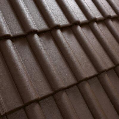 Ziegel & Pfannen Heimwerker Dachziegel Dachsteine Beton Musterziegel *klassiker* Braun 1.sorte