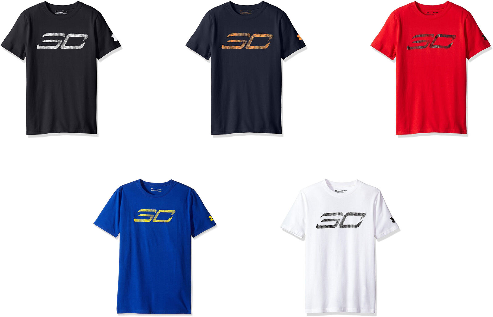 b010117cb5 Details about Under Armour Boys' SC30 Logo Short Sleeve Tee, 5 Colors