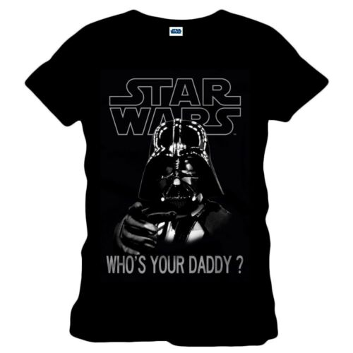 T-SHIRT VADER Who/'s Your Daddy Black TShirt VADER Daddy 100/% ORIGINALE