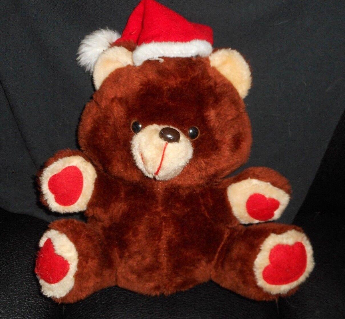 VINTAGE MTY CHRISTMAS ELECTRONIC MUSICAL TEDDY BEAR STUFFED ANIMAL PLUSH WORKS