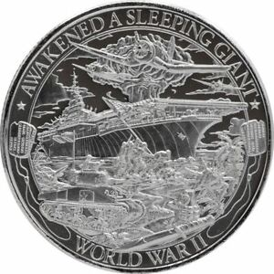 PATRIOT-1-oz-World-War-II-2019-999-Pure-Silver-Round-IN-CAPSULE-WWII