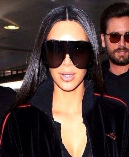 "/""FULL MASK/"" Shield MIrror POLARIZED Lens Women Sunglasses GAFAS OWEN RIMLESS"