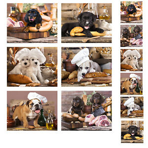 Details about Country Kitchen Cork Backed Placemats AND Coasters KITCHEN  DOGS Set 6 NEW