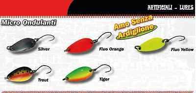 5 Ondulanti 5gr Micro Spoon Trout Area Game Cucchiaini Artificiali Pesca Trota