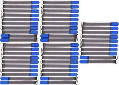 50x Klettband Kabelbinder FK 20 cm x 20 mm blau Klettbänder Kabelklett Metallöse