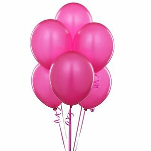 Image Is Loading 25 Fuchsia Pink Balloons Party Decorations Birthday Wedding