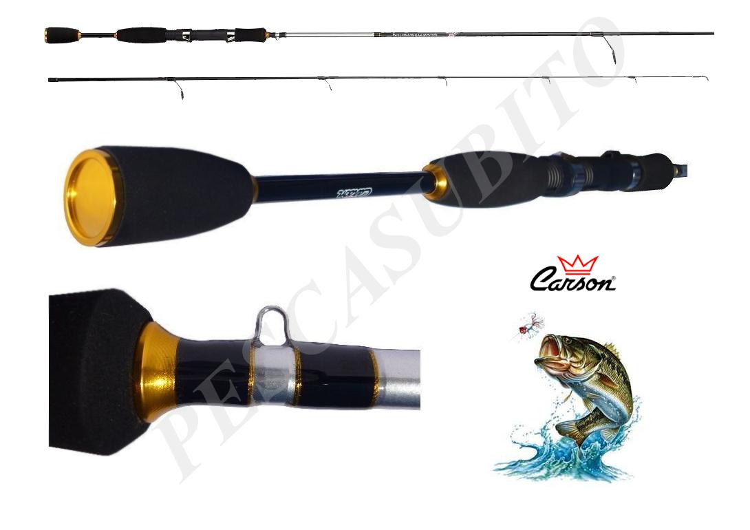 Canna spinning spin catch 2,70m 1030g pesca luccio bass trossoa spigola carbonio