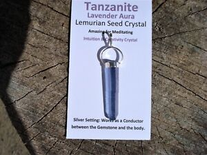 Tanzanite-Lavender-Aura-Lemurian-Point-Pendant