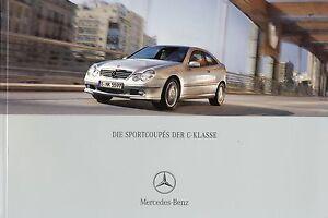 Mercedes-C-Klasse-Sportcoupe-Prospekt-12-02-brochure-2002-Auto-PKWs-Deutschland
