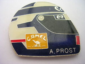 PIN-039-S-VOITURES-F1-CASQUE-ALAIN-PROST-CAMEL-CANON-ELF-SUPERBE