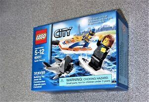 Lego Sealed Surfer Rescue Shark Wet Suit Surfboard Jet Ski 60011 City Ocean