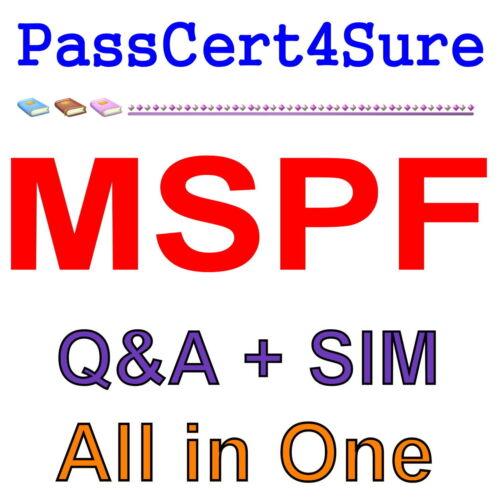 Managing Succesful Programmes Foundation MSPF Exam Q&A PDF+SIM