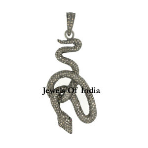 Details about Victorian Jewelry Natural Rose Cut Diamond & Sterling Silver  Pendant Jewelry