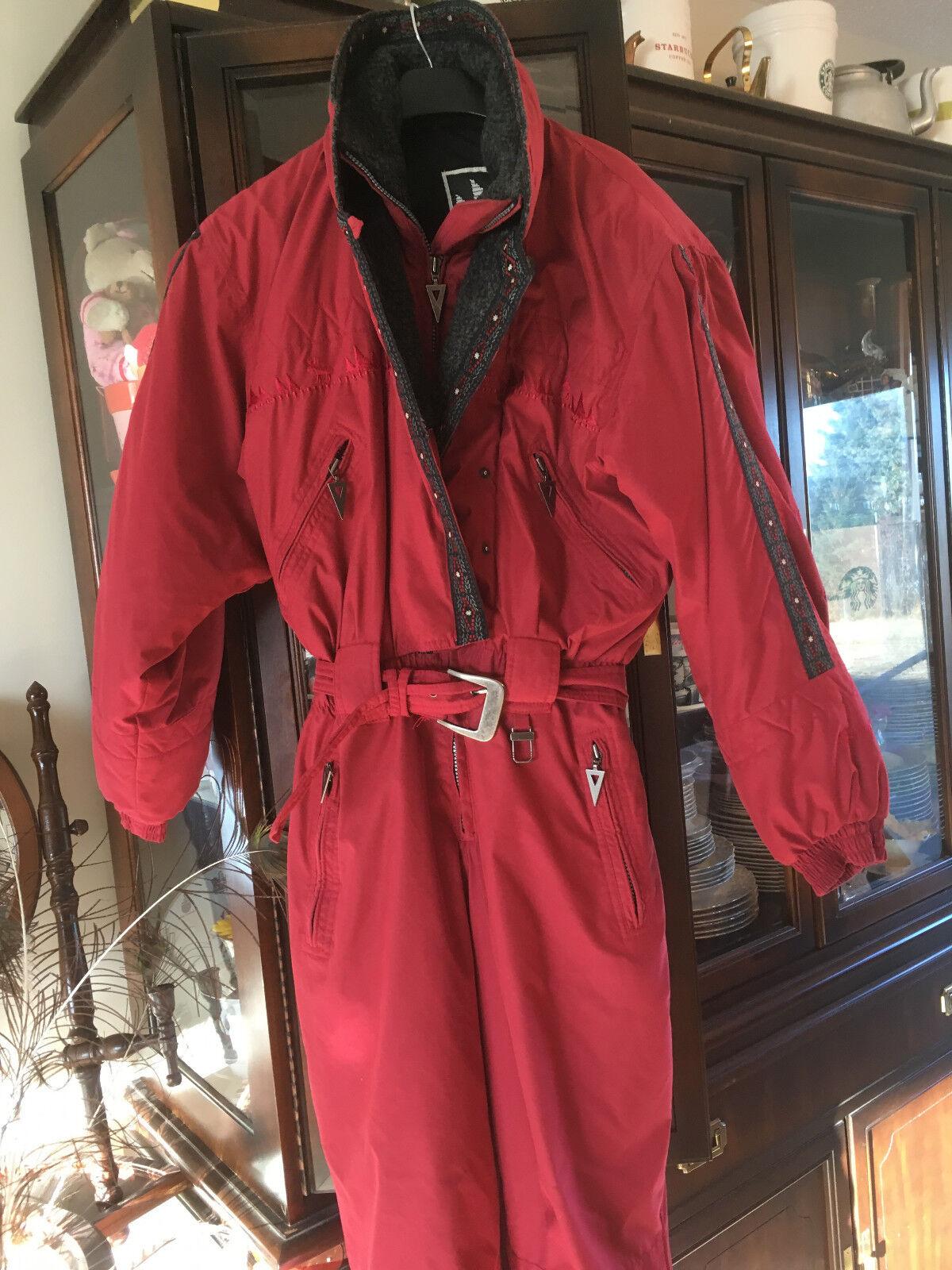 Vintage Womens Ski Suit Snowbaord Vuarnet  Size 8 Alpine Design  various sizes