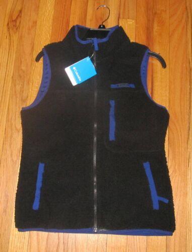 Columbia Women/'s Black Mountain Side Heavyweight Fleece Vest S NWT