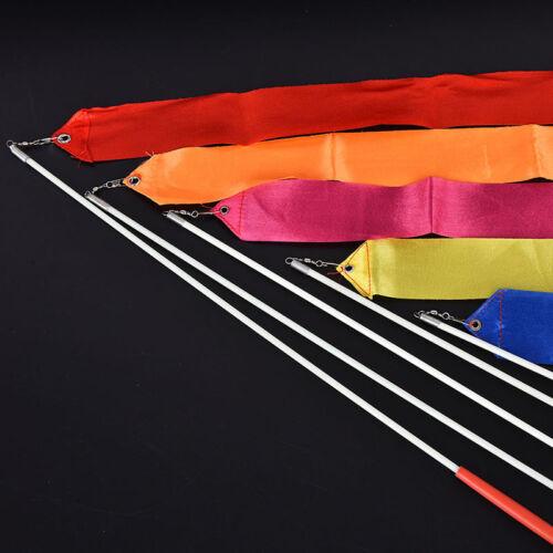 4m Professional Gym Ribbons Dance Ribbon Rhythmic Art Gymnastic Ballet StreameBD