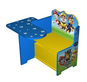 Paw Patrol Wooden Kids Work Bench Toy Box Storage Table