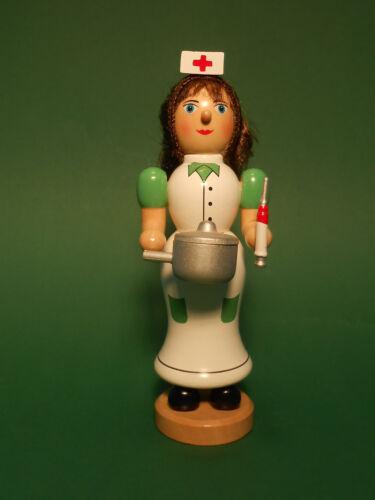 Räuchermann Räucherfigur Krankenschwester aus Holz Pflegedienst handbemalt neu