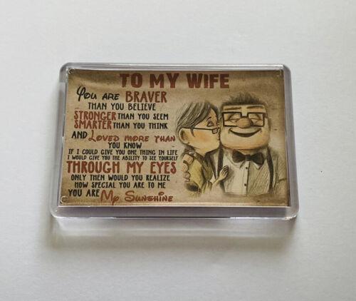 Keepsake. Wife Poem Fridge Magnet Valentines Day Gift Birthday Gift